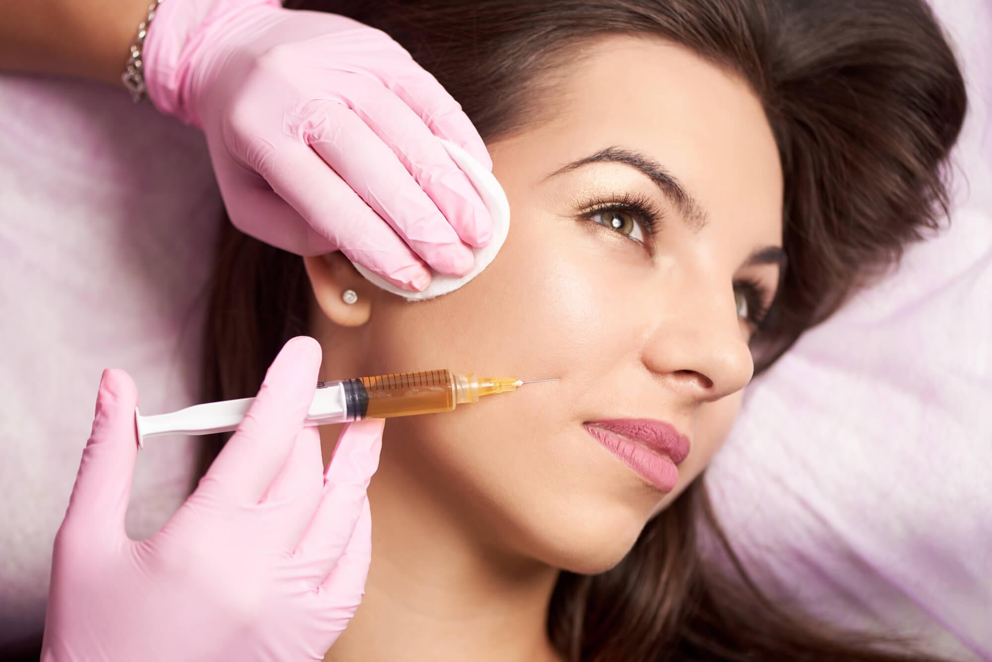 woman receiving dermal fillers Miami